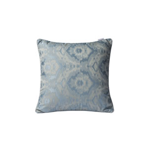Casa Silver and Blue and Cream 18-Inch Throw Pillow