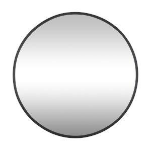 Cottage Black Round Wall Mirror