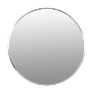 Cottage Brushed Nickel Round Wall Mirror