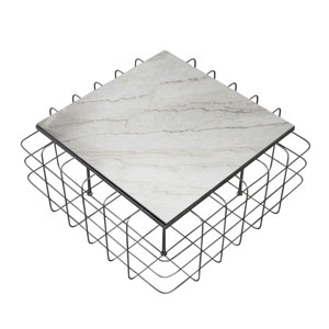 Casa Rustic Bronze and White 36-Inch Coffee Table