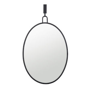 Stopwatch Black Wall Mirror