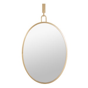 Stopwatch Gold Wall Mirror