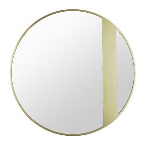 Cadet Gold Round Accent Wall Mirror