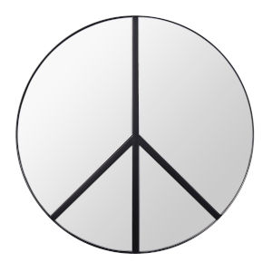 Paz Black Wall Mirror