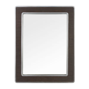 Macie Farmhouse Steel Rectangular Wall Mirror