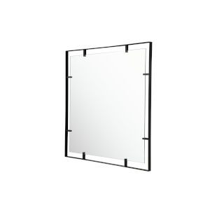 Tabon Black Square Open Frame Wall Mirror