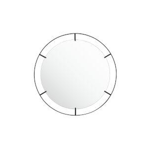 Tabon Black Round Open Frame Wall Mirror