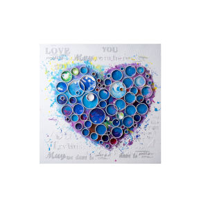 Work Of Heart Blue Wall Art