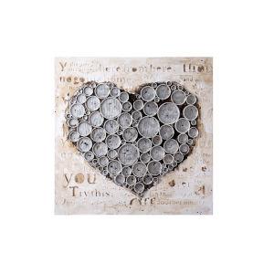 Work Of Heart Silver Wall Art