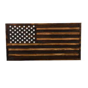 Rustic Pine Multicolor American Flag Wall Art