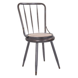 Casa Weathered Steel Chair