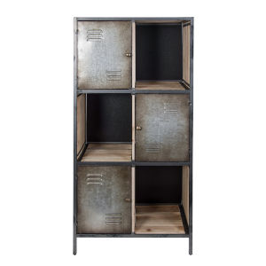 Casa Weathered Steel Bookcase