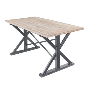 Casa Weathered Steel Dining Table