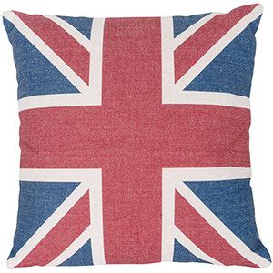 Country Icons UK Flag Throw Pillow