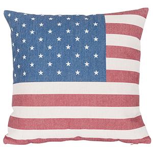 Country Icons USA Flag Throw Pillow