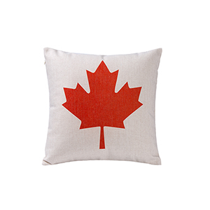 Country Icons Canadian Flag Throw Pillow