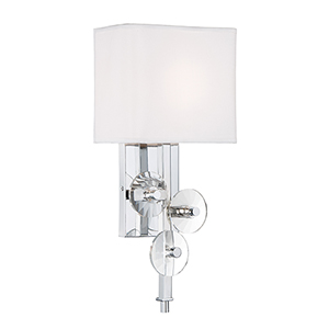 Engeared Chrome One-Light Wall Sconce