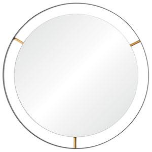 Framed Matte Black 20-Inch Round Mirror