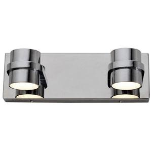 Twocan Polished Chrome Four-Light LED Bath Sconce