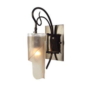 Soho Statue Garden Single Light Vanity w/ Brown Tint Ice Recycled Glass