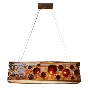Fascination Recycled Kolorado Four-Light Linear Pendant