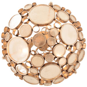 Fascination Zen Gold Three-Light Semi-Flush