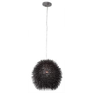 Urchin One-Light Mini Pendant in Black