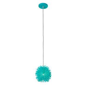 Urchin Aqua Velvet One Light Uber Mini Pendant