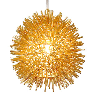 Urchin Gold 6-Inch One-Light Mini Pendant