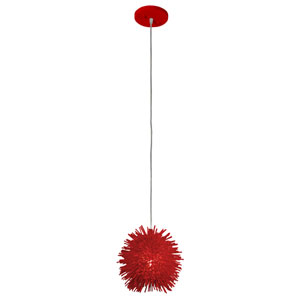 Urchin Super Red One Light Uber Mini Pendant