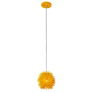 Urchin Un-Mellow Yellow One Light Uber Mini Pendant