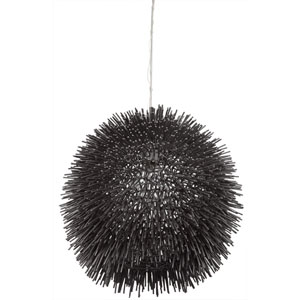 Urchin One-Light Pendant in Black