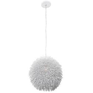Urchin One-Light Pendant in White