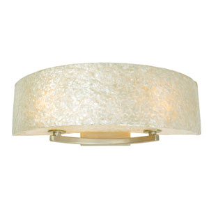 Radius Gold Dust Two-Light Bath Fixture with Crushed Natural Capiz
