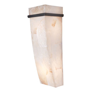 Big Two-Light Sconce in Brilliant Mojave with Kabebe Shell