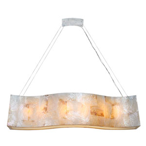 Big Sustainable Kabebe Shell Six-Light Linear Pendant