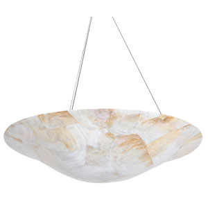 Big Four-Light Pendant with Reclaimed Kabebe Shell