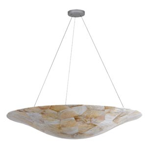 Big Eight-Light Pendant with Reclaimed Kabebe Shell