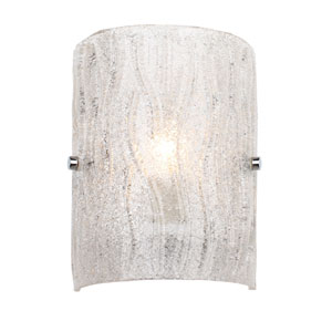 Brilliance Chrome Finish with Bright Ice Glass One Light Wall Sconce