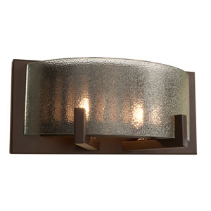 Firefly Two-Light Warm Bronze Micro-Texture Glass Sconce