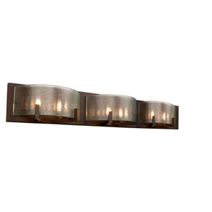Firefly Six-Light Warm Bronze Micro-Texture Glass Bath Fixture