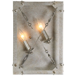 Askew Silver Age Two-Light Inch Wide Wall Sconce (Left)