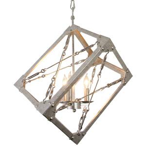 Askew Silver Age Three-Light  Pendant