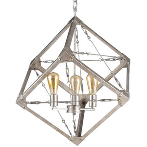 Askew Silver Age Three-Light Pendant
