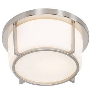 Smart Satin Nickel 10-Inch One-Light Flush Mount