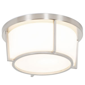 Smart Satin Nickel 10-Inch LED Flush Mount