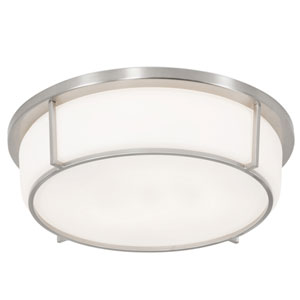 Smart Satin Nickel 13-Inch LED Flush Mount