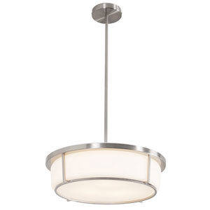 Smart Satin Nickel 17-Inch Three-Light Pendant