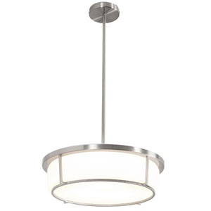 Smart Satin Nickel 17-Inch LED Pendant