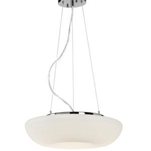 Swirled Chrome LED 15-Inch One-Light Pendant